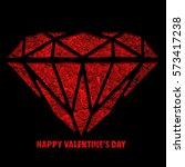 happy valentines day | Shutterstock . vector #573417238