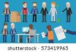 professions cartoon character... | Shutterstock .eps vector #573419965