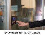 track employee hours using...   Shutterstock . vector #573425506