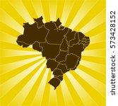 map of brazil | Shutterstock .eps vector #573428152