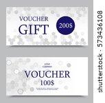 gift company voucher template... | Shutterstock .eps vector #573436108