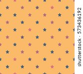 seamless pattern with stars.... | Shutterstock .eps vector #573436192