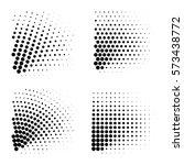 vector halftone dots. black... | Shutterstock .eps vector #573438772