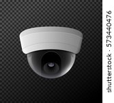 vector security camera... | Shutterstock .eps vector #573440476