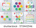 set with infographics. data and ... | Shutterstock .eps vector #573442546