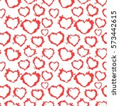 blots hearts. seamless texture. ... | Shutterstock .eps vector #573442615