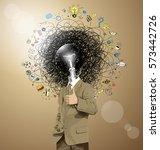 vector hipster business man...   Shutterstock .eps vector #573442726