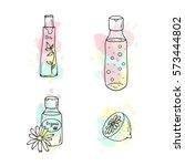 organic cosmetics illustration. ... | Shutterstock . vector #573444802
