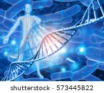 3d medical background with male ... | Shutterstock . vector #573445822