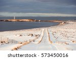 Winter Icelandic Road By The...