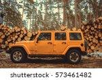 karelia  russia   february 02 ... | Shutterstock . vector #573461482