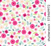 cute vintage seamless pattern... | Shutterstock .eps vector #573469972