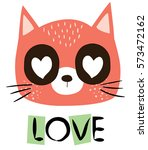 cute cat | Shutterstock .eps vector #573472162