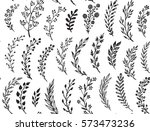 seamless pattern with hand... | Shutterstock .eps vector #573473236