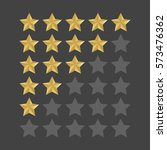 3d five stars rating icon set.... | Shutterstock .eps vector #573476362