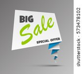 big sale banner with arrow in... | Shutterstock .eps vector #573478102
