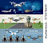 military drone  modern army... | Shutterstock .eps vector #573478645