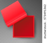 red open empty squares... | Shutterstock .eps vector #573491362