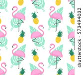 tropical trendy seamless... | Shutterstock .eps vector #573494032