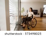 Upset Disabled Woman In...