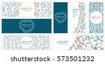 abstract vector set of web... | Shutterstock .eps vector #573501232