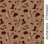 seamless pattern in retro style.... | Shutterstock . vector #573506665