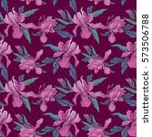 seamless pattern with orchid... | Shutterstock . vector #573506788