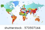 world map countries vector on... | Shutterstock .eps vector #573507166