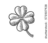 good luck four leaf clover.... | Shutterstock .eps vector #573507928