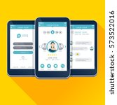 ui  ux  gui concept mobile app...