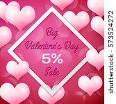 big valentines day sale 5... | Shutterstock .eps vector #573524272