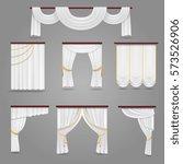 white curtains drapery for... | Shutterstock .eps vector #573526906