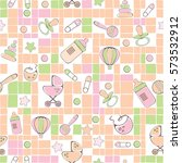 seamless pattern for new born... | Shutterstock .eps vector #573532912
