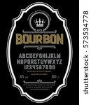 typeface. label. bourbon... | Shutterstock .eps vector #573534778