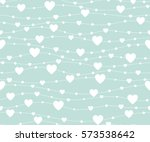 seamless pattern hearts.... | Shutterstock .eps vector #573538642
