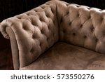 vintage luxurious brown leather ... | Shutterstock . vector #573550276