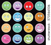 emoticons   face expressions  ...   Shutterstock .eps vector #573566536