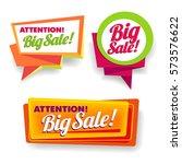 big sale poster  banner  lead ... | Shutterstock .eps vector #573576622