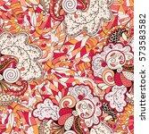 tracery seamless calming... | Shutterstock .eps vector #573583582