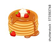 traditional pancakes with...   Shutterstock .eps vector #573583768