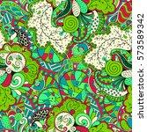 tracery seamless calming... | Shutterstock .eps vector #573589342