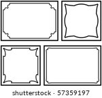 set of vector decorative frames ... | Shutterstock .eps vector #57359197