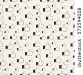pattern of likes. thumbs up.... | Shutterstock .eps vector #573594028