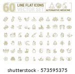 vector graphic set.icons in... | Shutterstock .eps vector #573595375