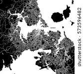 auckland vector map  artprint.... | Shutterstock .eps vector #573596482