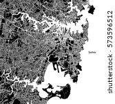 sydney vector map  artprint.... | Shutterstock .eps vector #573596512