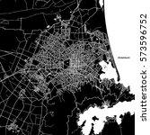 christchurch vector map ... | Shutterstock .eps vector #573596752