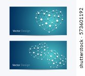 set of horizontal banners.... | Shutterstock .eps vector #573601192