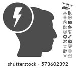 brain electricity pictograph... | Shutterstock .eps vector #573602392