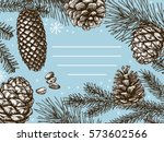 vector frame with hand drawn... | Shutterstock .eps vector #573602566